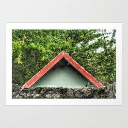 Cap Malheureux, red roof Art Print