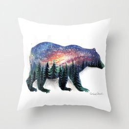 The bear without a forest Throw Pillow