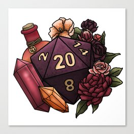 Sorcerer Class D20 - Tabletop Gaming Dice Canvas Print