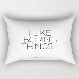 Motivational Poster,Normal Is Boring,Typography Print,Quote Prints.Wall Art,I Like Boring Things,Ins Rectangular Pillow