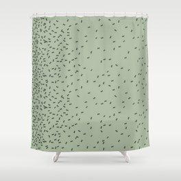 ANTS GREEN (BIG RUG) Shower Curtain