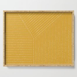 Lines / Yellow Serving Tray