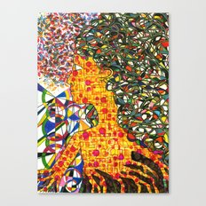 Yellow Girl Canvas Print