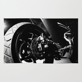 Kawasaki Ninja Motorcycle Wall Art II Rug