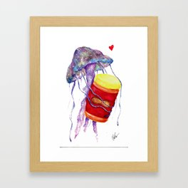 PB&J Fish Framed Art Print