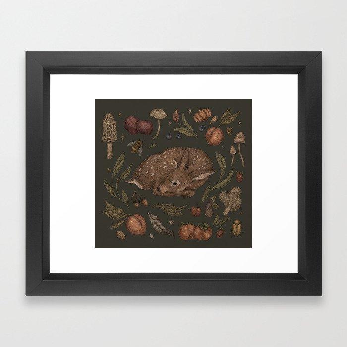 Foraging Fawn Framed Art Print