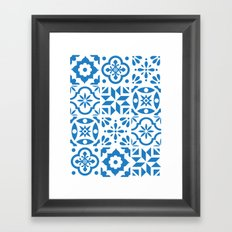Spanish Tiles Framed Art Print
