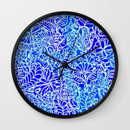 Jungle Garden, Blue Wall Clock