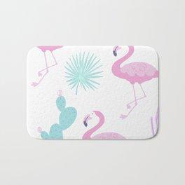 Flamingos and cactus Bath Mat