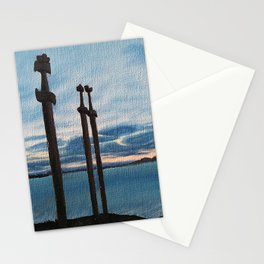 Three Swords - Stavanger Norway / Oil Painting Stationery Cards
