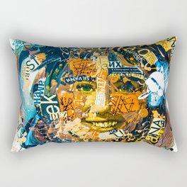 the woman's face #1 Rectangular Pillow