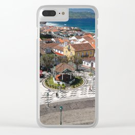 City in Azores islands Clear iPhone Case