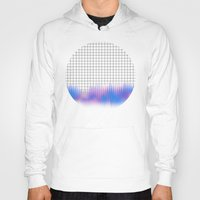 grid Hoodies featuring Grid glitch by Marta Olga Klara