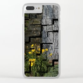 Flower Mosiac Day Lilies Clear iPhone Case