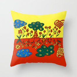 Double Nature Throw Pillow