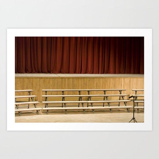 Empty Stage Art Print