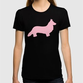Pink Welsh Corgi Silhouette T-shirt