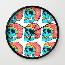 fast or last color Wall Clock