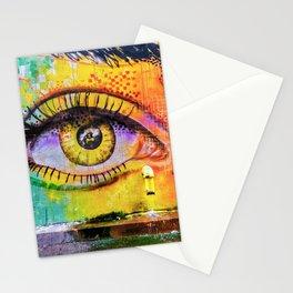 Graffiti Crying Eye Stationery Cards