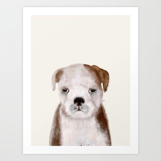 little bulldog Art Print
