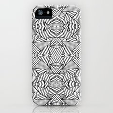 Abstract Mirror Black on White Slim Case iPhone (5, 5s)