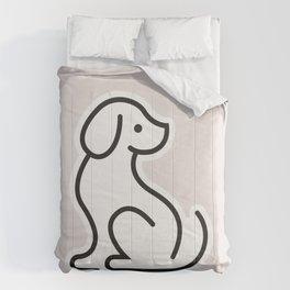 Dog Grey #1 Comforters