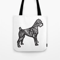 boxer Tote Bags featuring Boxer by creative.court