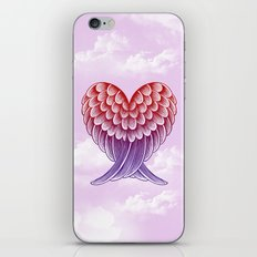 Heart Wings [Pink Version] iPhone & iPod Skin