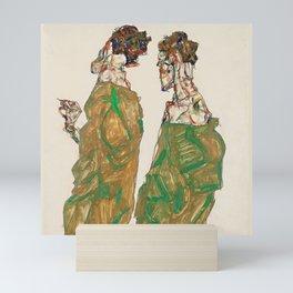 "Egon Schiele ""Devotion"" Mini Art Print"