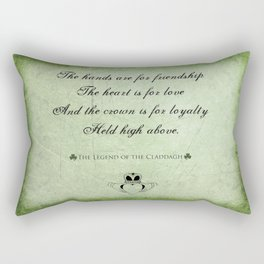Claddagh ~ Love, Loyality, and Friendship Rectangular Pillow