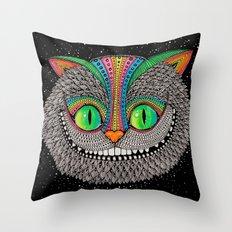 Alice in wonderland art fan by Luna Portnoi Throw Pillow