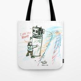"""""""I Wuv you Robot"""" Tote Bag"""