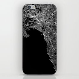 Melbourne Black Map iPhone Skin