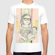 ghost world MEDIUM Mens Fitted Tee White