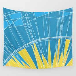 Abstract pattern, digital sunrise illustration Wall Tapestry