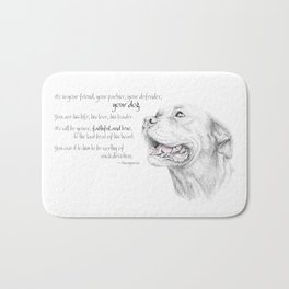 Murphy :: Loyalty [with Quote] Bath Mat