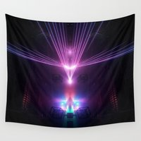 fight Wall Tapestries featuring Lazer Fight  by Loods23