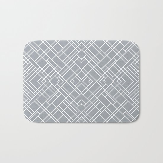 Map Outline 45 Grey Repeat Bath Mat
