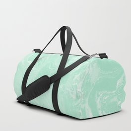 Mint Green Pastel Marble Minimalist Duffle Bag
