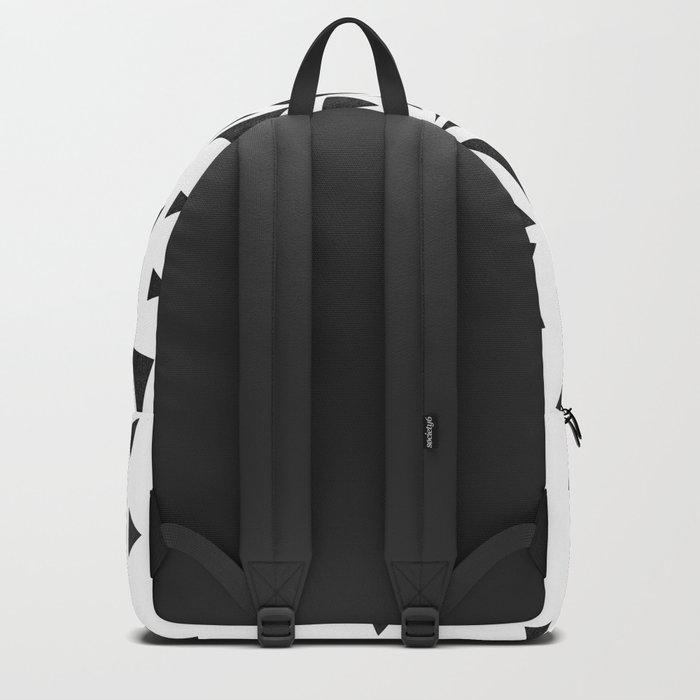 B&W geometric  pattern 01 Backpack