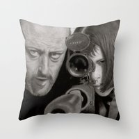 leon Throw Pillows featuring Leon by Giampaolo Casarini