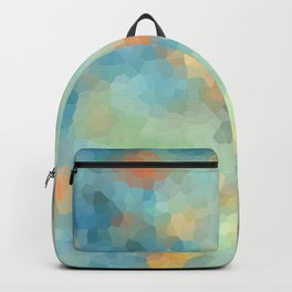 "Colored crystals . ""Sunbeams"" . Backpack"