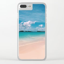 Pink & Blue Clear iPhone Case