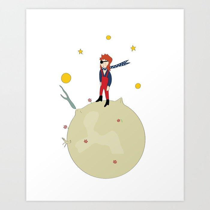 David Bowie as The Little Prince Art Print by jenniferannlewis ...