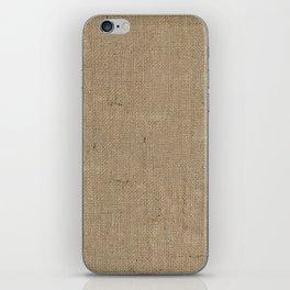 Plain Burlap Texture Print iPhone Skin