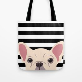 Peeking Frenchie Tote Bag