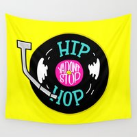 hip hop Wall Tapestries featuring Hip Hop Ya Don't Stop by Chelsea Herrick