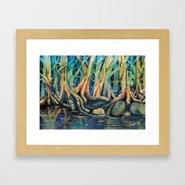 Kingfisher Forest Framed Art Print