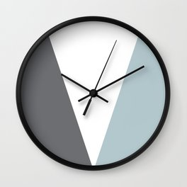 teal geometric Wall Clock