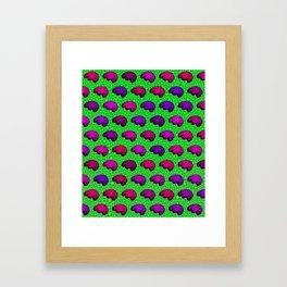 Brains And Leopard Print Framed Art Print